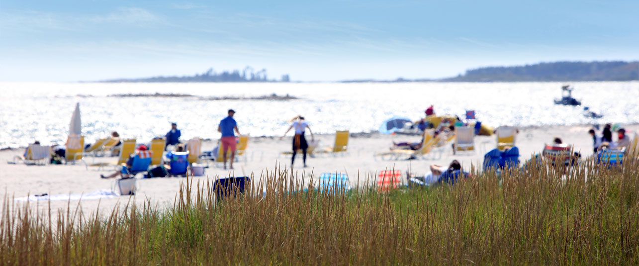 Enjoy long sandy beaches of Maine
