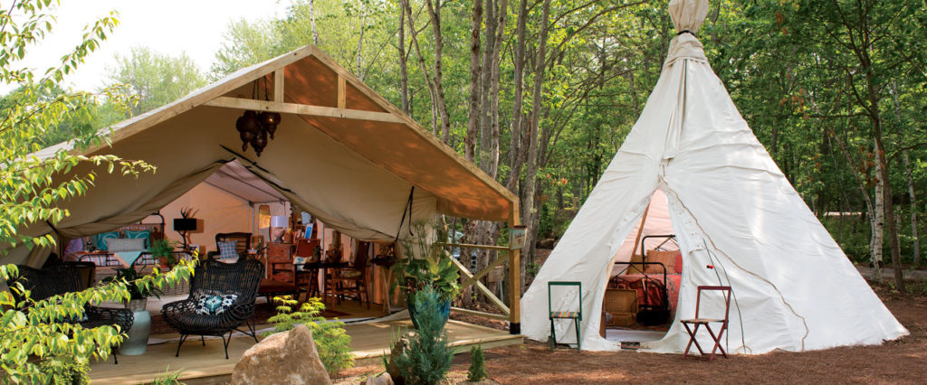 Glamping at Sandy Pines in The Maine Beaches