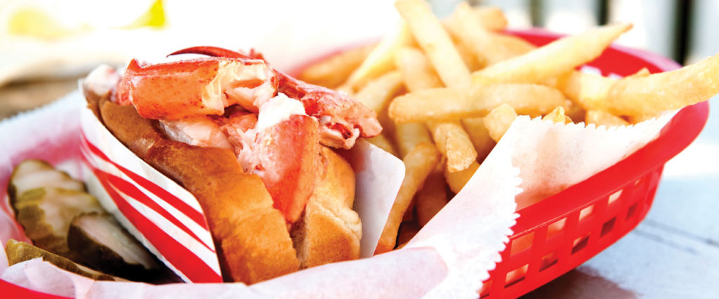 The obiquitous Maine Lobster Roll